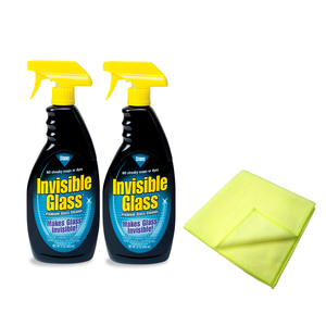 Invisible Glass Set of 2 with 2 Microfibre Cloths